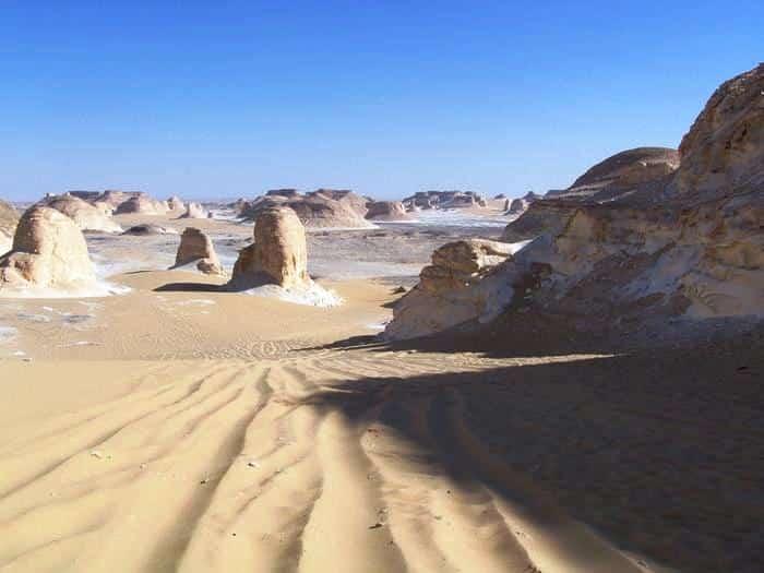 Excursion Désert Blanc I Magali Borel et le groupe Mars 2009