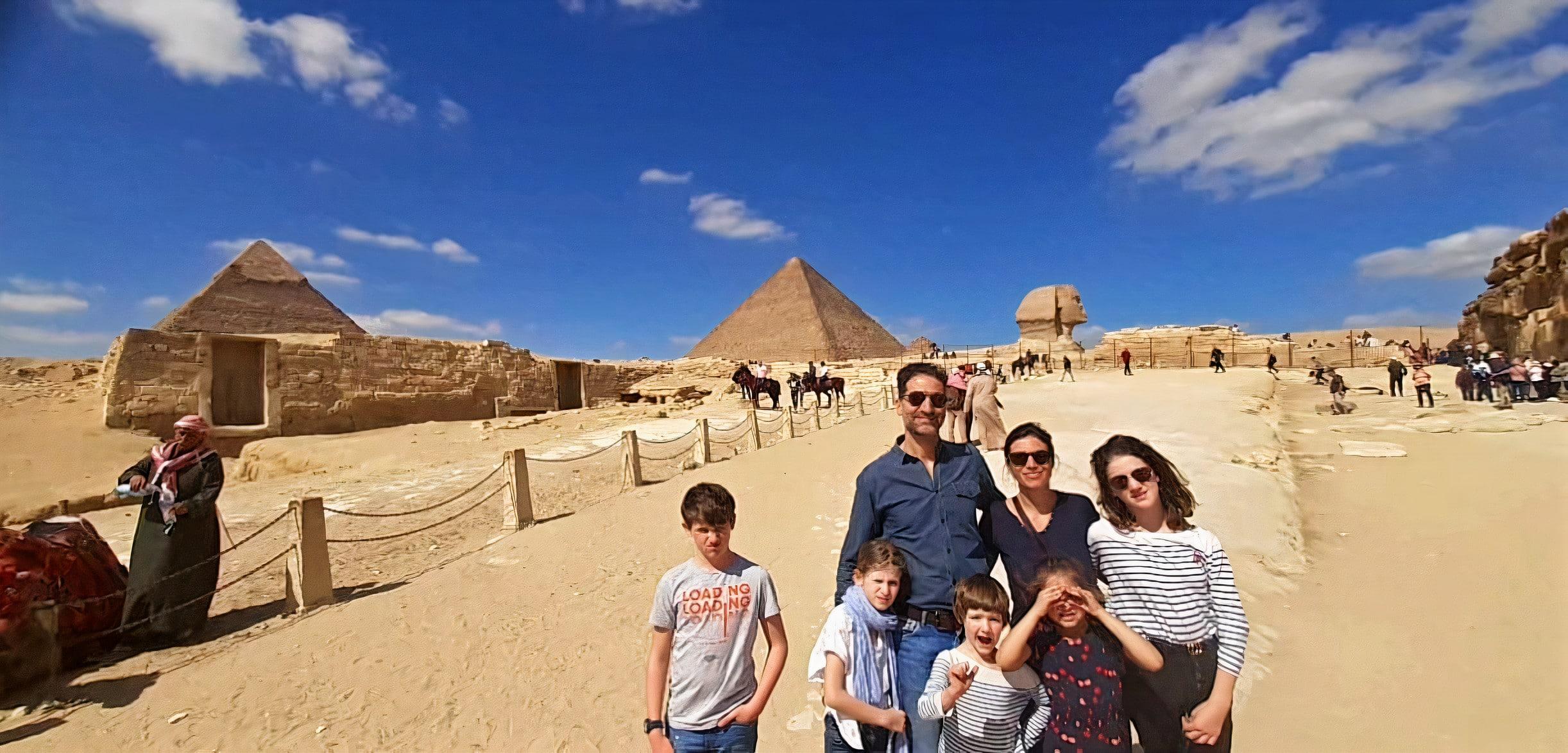 Egypte Voyage I Thomas, June Ortega & les enfants Février 2020